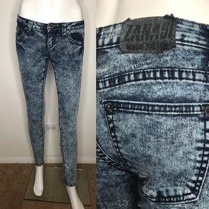 Zanadi Blue Tie Dye Acid Wash Skinny Jeans Size 3